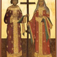 Icon of saints Constantine and Helen
